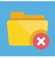 Delete Folder Icon vector image vector image