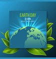 earth day design vector image vector image