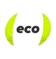 eco logo template vector image vector image