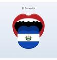 El Salvador language Abstract human tongue vector image vector image