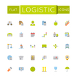 Flat Logistic Icons vector image vector image