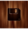 Floppy disk icon Wooden texture vector image vector image