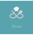 Fork spoon infinity sign and chef hat Menu card vector image vector image