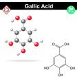 Gallic acid molecule vector image vector image