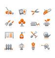 gardening icons - graphite series vector image