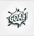 goal icon comics cloud with halftone shadow vector image vector image