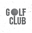Golf club vector image vector image