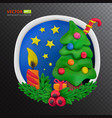 handmade plasticine round greeting card vector image vector image