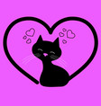 happy valentines day cat vector image