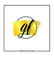 initial letter gf logo template design vector image