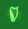 Irish Celtic Harp vector image vector image