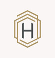 letter h symbol vector image vector image