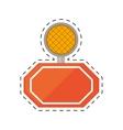 light alert mining caution sign cut line vector image vector image