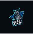 logo ninja e sport and sport style vector image