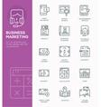 modern line icon design concept business market vector image vector image