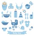 Newborn baby icons set vector image vector image