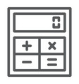 online calculator line icon finance and banking vector image vector image