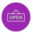 Open sign line icon vector image vector image