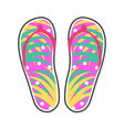 pair of colorful flip-flops flat icon vector image vector image