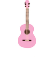 Pastel Pink Guitar vector image