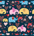 pattern elephants in clouds vector image vector image