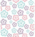 pattern flowers ornate2 vector image vector image
