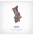 people map country Herm vector image vector image