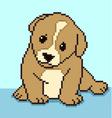 pixel puppy vector image vector image