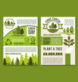posters or brochure for earth day ecology vector image vector image