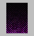 purple circle pattern brochure background vector image vector image