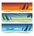 Sail boat background2 vector image vector image