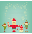 Santa Claus Christmas Elf and Snowman vector image vector image
