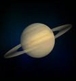 saturn realistic planet vector image vector image