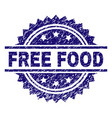 scratched textured free food stamp seal vector image vector image