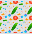 seamless pattern with exotic tropical flower vector image