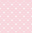 seamless pattern with small hearts pink and white vector image vector image
