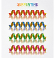 serpentine set vector image vector image