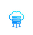 server hosting cloud storage icon vector image vector image
