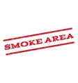Smoke Area Watermark Stamp vector image vector image