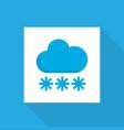 snowy icon flat symbol premium quality isolated vector image