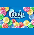 Sweet lollipop candy colorful background