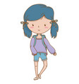 teenager girl cartoon design vector image vector image