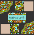 template business cards with oriental pattern and vector image vector image