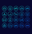 transport line icons set vector image vector image