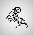Tribal Aries vector image vector image