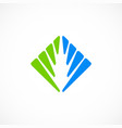 unusual square business eco logo vector image vector image