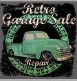 vintage garage retro banner vector image