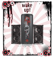 Wake-up art background vector image