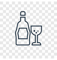 whiskey concept linear icon isolated on vector image vector image