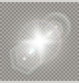 white star explosion with flare effect vector image vector image